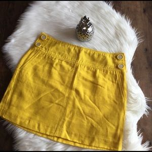 NWOT Banana Republic Yellow Skirt - 4